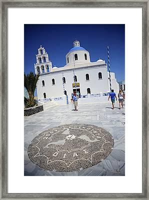 Oia Main Square Framed Print by Nano Calvo