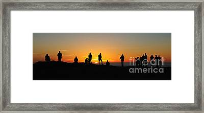 Framed Print featuring the photograph Panorama Everyone Likes A Sunset by Vivian Christopher