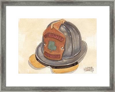 Proud To Be Irish Fire Helmet Framed Print by Ken Powers