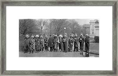 Pueblo Indians Washington Dc Framed Print by Fred Schutz Collection