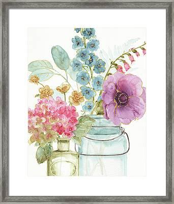 Rainbow Seeds Flowers Viii Framed Print