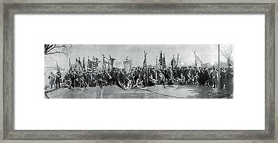 Sons Of Romania At President Elect Framed Print