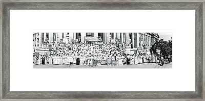 Suffrage Women Washington Dc Framed Print