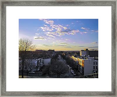 Framed Print featuring the photograph Sunset Row Homes by Brian Wallace