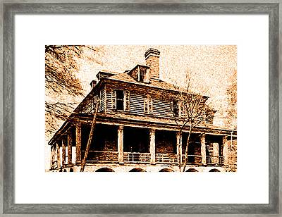 Framed Print featuring the digital art This Old House by Chuck Mountain