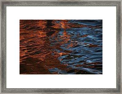 Thunder N Lightning Framed Print by Donna Blackhall