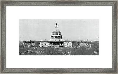 Us Capitol Washington Dc 1916 Framed Print