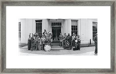 Us Indian Band Washington Dc Framed Print by Fred Schutz Collection