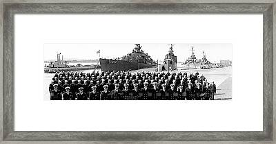 Uss Charles Ausburne Framed Print by Fred Schutz Collection