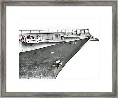 Uss Lexington - Stark Framed Print