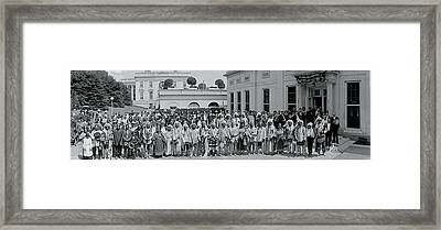 White House Rodeo Washington Dc Framed Print by Fred Schutz Collection