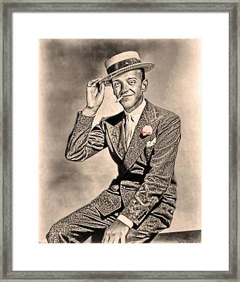 Young Mr.astaire Framed Print by Tyler Robbins
