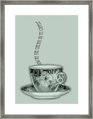 You're The Cream In My Coffee Valentine Framed Print by Sarah Vernon