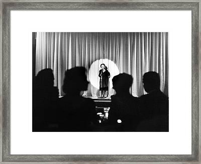 �dith Piaf (1915-1963) Framed Print