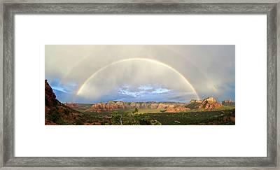 Double Rainbow Over Sedona Framed Print