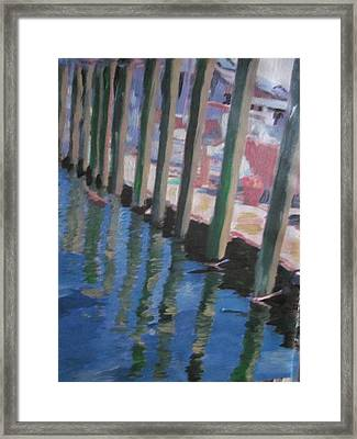 The Dock Framed Print by David Poyant