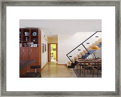 A Home Interior In North Vancouver Framed Print by Marlene Ford