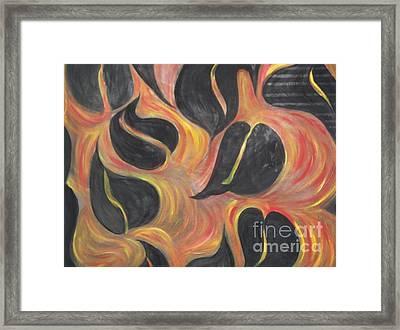 Aces Of Spades On Fire Framed Print by Rachel Carmichael