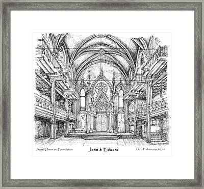 Angel Orensanz Jane And Edward's Wedding Framed Print by Building  Art