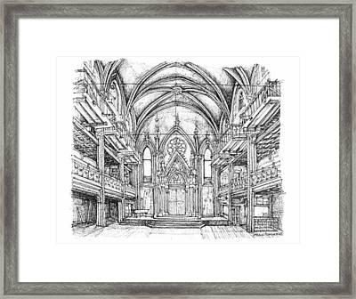 Angel Orensanz Venue In Nyc Framed Print by Building  Art