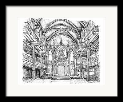 Installation Drawings Framed Prints