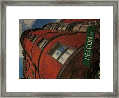 Beacon St Framed Print by David Poyant