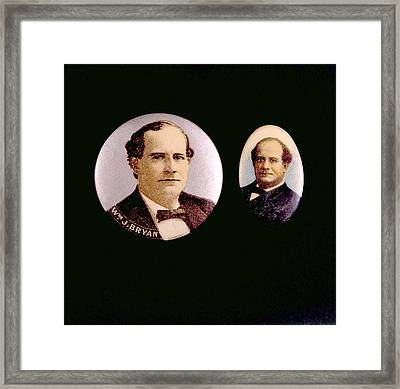 Campaign Buttons For William Jennings Framed Print