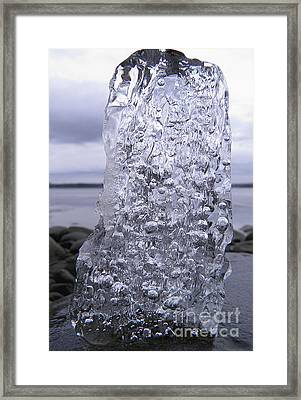 Framed Print featuring the photograph Captured Icy Tears by Sami Tiainen