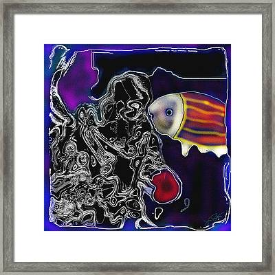 Framed Print featuring the painting Going Fishing 4 by Jann Paxton