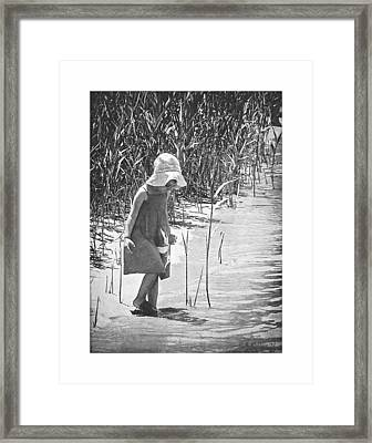 Khloe - Grayscale Framed Print by Brian Wallace