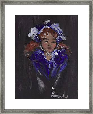 Lil Girl Blue Framed Print by Laurie L