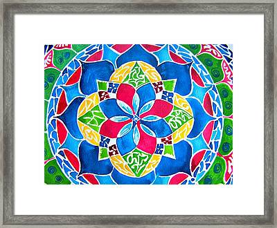 Mandalas Circle Of Life Framed Print