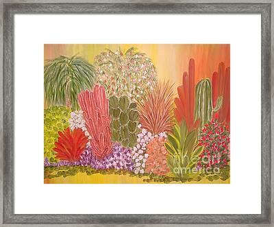 My Cactus Garden Framed Print