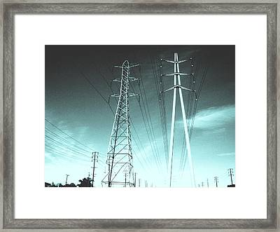 Power Lines Framed Print by Jay Reed