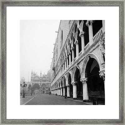 San Marco Square In Venice Framed Print by Emanuel Tanjala