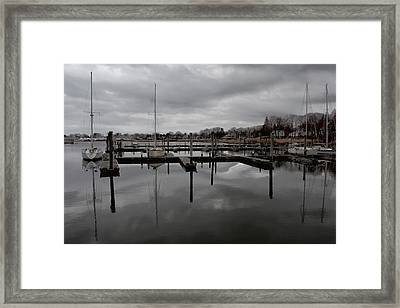 Storm Brewing In The Early Season Framed Print by Karol Livote