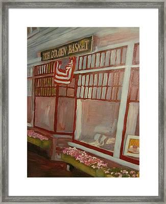 The Golden Basket Framed Print by David Poyant