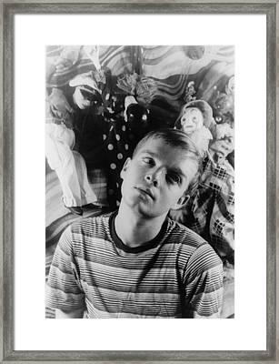 Truman Capote, Portrait By Carl Van Framed Print by Everett
