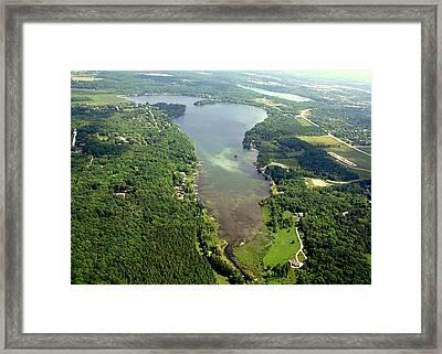 Framed Print featuring the photograph  C-013 Cedar - Little Cedar Lake Wisconsin by Bill Lang