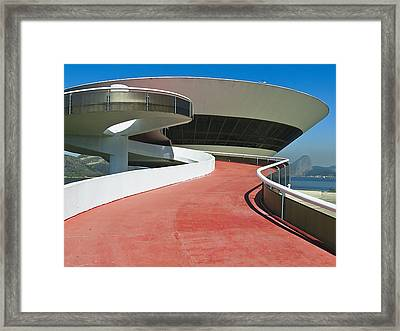 Contemporary Art Museum Niteroi Brazil Framed Print by George Oze