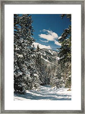Fresh Powder Framed Print