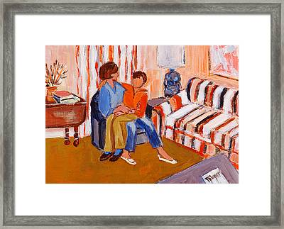 May I Sit On Your Lap Framed Print by Elzbieta Zemaitis