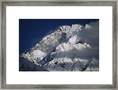 25,531 Foot Namche Barwa, Highest Peak Framed Print by Gordon Wiltsie