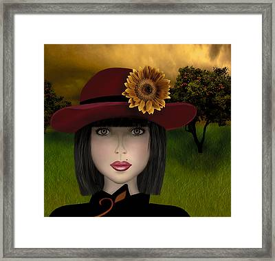 Framed Print featuring the digital art Abigail by Katy Breen