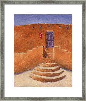Acoma Steps Framed Print by Jerry McElroy