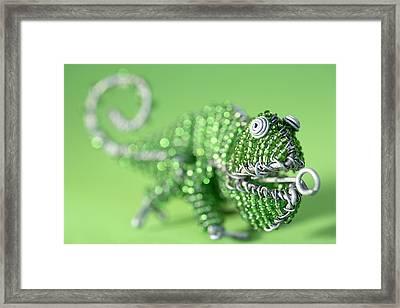 African Wire Chameleon Framed Print