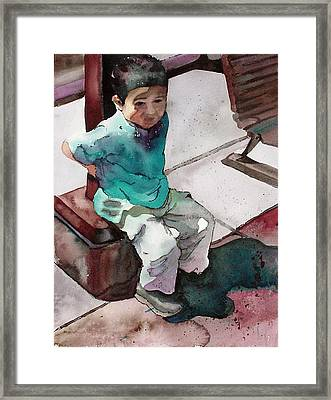 Framed Print featuring the painting Andrew by Yolanda Koh