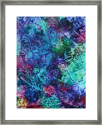 Framed Print featuring the painting Bikini Bottom by Pat Purdy