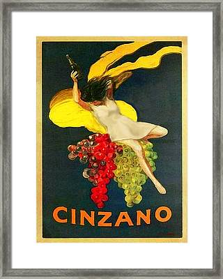 Cinzano Girl Framed Print by Nick Diemel