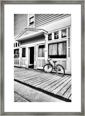 Downtown Skagway 4 Bw Framed Print by Mel Steinhauer